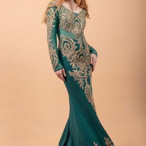 Mermaid V-Neck Long Evening Dress Gl1597